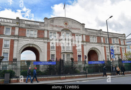 The Oswald Stoll Foundation mansions in Fulham Broadway for vulnerable and disabled ex-Servicemen and women London UK - Stock Image