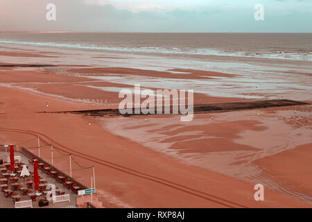 Beach at Cabourg, Normandy, France - Stock Image