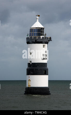Penmon Lighthouse off the coast of Anglesey near Beaumaris, North Wales - Stock Image