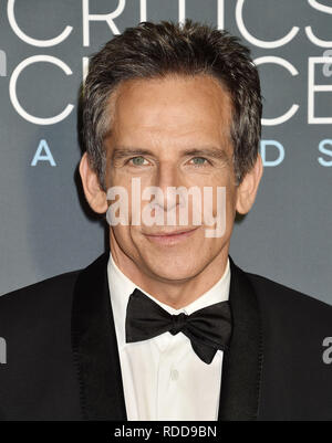 BEN STILLER American film actor  at the The 24th Annual Critics' Choice Awards attends The 24th Annual Critics' Choice Awards at Barker Hangar on January 13, 2019 in Santa Monica, California. Photo; Jeffrey Mayer - Stock Image