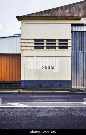 SNSM warehouse building in St Malo, Brittany, France - Stock Image