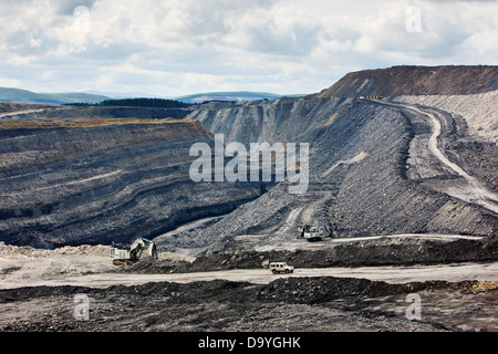 Open cast coal mining in South Lanarkshire, Scotland - Stock Image