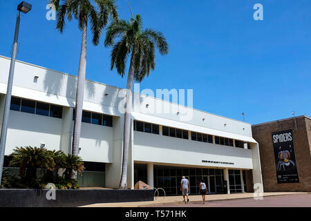 Front entrance of the Museum and Art Gallery ofthe Northern Territory in Darwin, Northern Territory, Australia. - Stock Image
