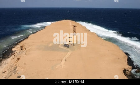 Big Brother Island in the Red Sea, the view from the lighthouse to the north - Stock Image