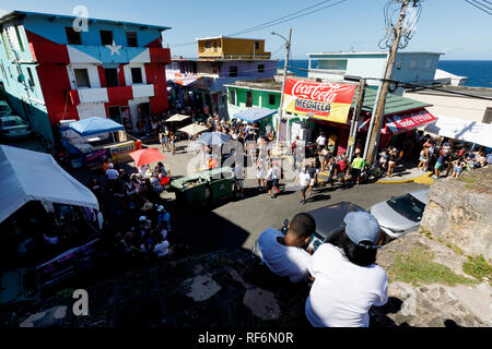 La Perla neighborhood, San Juan, Puerto Rico - Stock Image