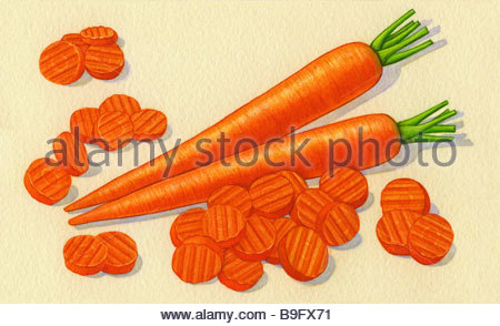 Carrots & Slices - Stock Image