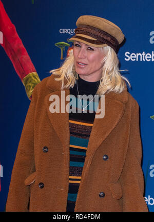 London, United Kingdom. 16 January 2019. Denise van Outen arrives for the red carpet premiere of Cirque Du Soleil's 'Totem' held at The Royal Albert Hall. Credit: Peter Manning/Alamy Live News - Stock Image