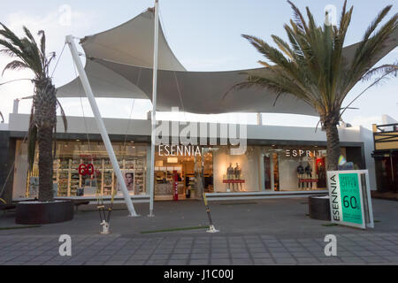 A national Spanish company called Esennia that specialises in perfumes and cosmetics in Puerto Del Carmen, Lanzarote. - Stock Image