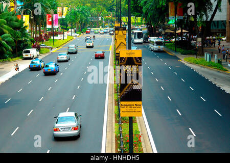 Travelers' view of Singapore  - sights & places - Stock Image