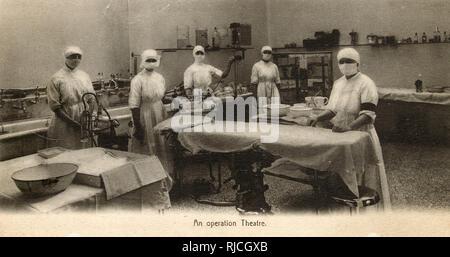 St Bartholomew's Hospital, Farringdon, City of London - An operating Theatre. - Stock Image