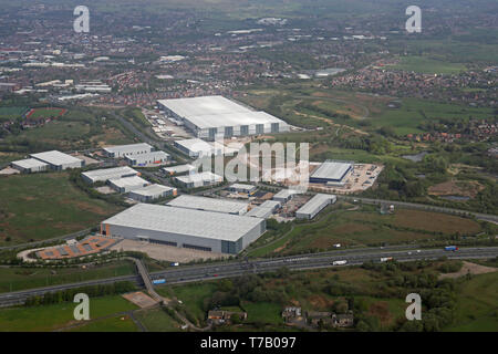 aerial view of Kingsway Business Park, Rochdale, Greater Manchester, UK - Stock Image