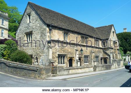 Wallington Hall (circa 1500) in Bradford-on-Avon, Wiltshire, UK. - Stock Image