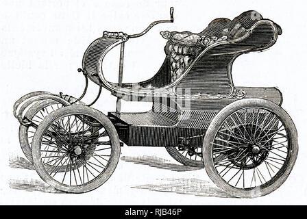 Audineau voiturette, with tiller-steering. - Stock Image