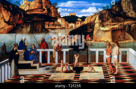 Giovanni Bellini, Holy Allegory, painting, c. 1490 - Stock Image