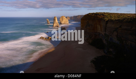The famous Twelve Apostles on Victoria's Great Ocean Road Australia - Stock Image