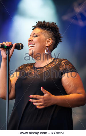 ORANGE BUD performing at Musilac summer festival, 10 july 2015 - Stock Image