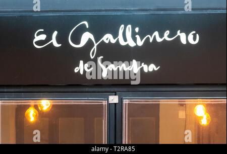 El Gallinero de Sandra, a fine dining restaurant in Seville - Stock Image