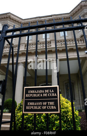 Sign New Cuban embassy Washington D C - Stock Image