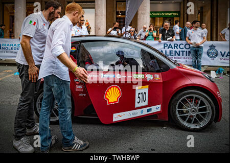Turin, Italy. 20th Jun 2019. Turin Auto Show 2019 - The Polytechnic of Turin in dynamic action with the XAM prototype - Hybrid urban Concept Credit: Realy Easy Star/Alamy Live News - Stock Image