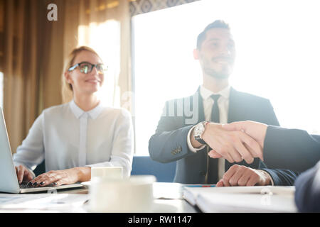 Greeting gesture - Stock Image