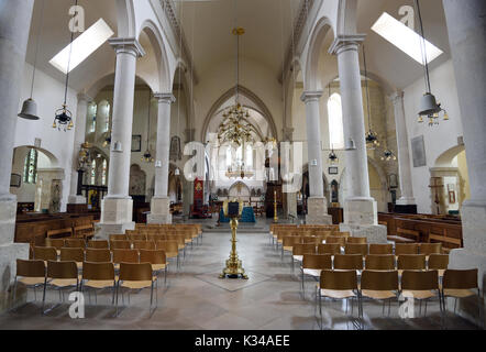 Inside  Cathedral Church of St Thomas of Canterbury, Portsmouth Cathedral. Portsmouth. Hampshire, UK. - Stock Image