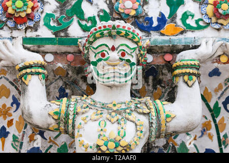 Demon statue at Wat Arun, Bangkok, Thailand. - Stock Image