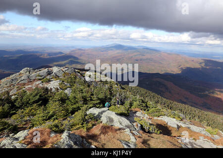 Looking north from the summit of Camel's Hump, VT, USA - Stock Image