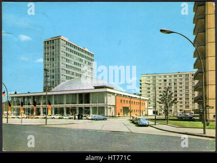 GERMANY - CIRCA 1966: A postcard printed in Germany, shows the Teacher Hause and Congress Hall, Berlin, circa 1966 - Stock Image