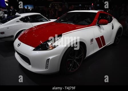 New York, NY, USA. 17th Apr, 2019. 2020 Nissan 370Z 50th Anniversary edition in attendance for New York International Auto Show - WED, Jacob K. Javits Convention Center, New York, NY April 17, 2019. Credit: Kristin Callahan/Everett Collection/Alamy Live News - Stock Image