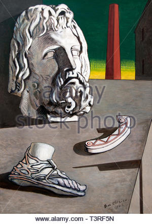 Composition metaphysical head of Jupiter 1942 by Giorgio de Chirico 1888 born in Greece Italian artist and writer . (Italy) - Stock Image