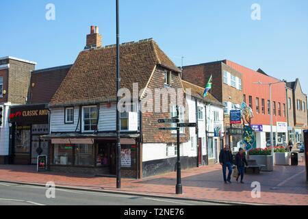 Tonbridge high street, Kent, England - Stock Image