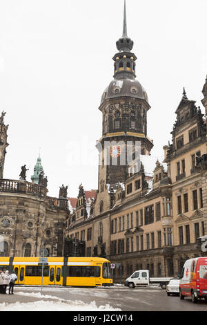 Germany, Dresden. Hausmann Tower at Dresden Castle. Credit as: Wendy Kaveney / Jaynes Gallery / DanitaDelimont.com - Stock Image