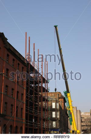 Affordable housing construction site Trades Lane Dundee Scotland  26th February 2019 - Stock Image