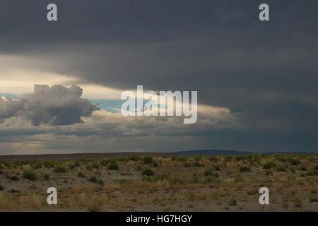 Fantasy Canyon Utah desert rain and storm clouds - Stock Image