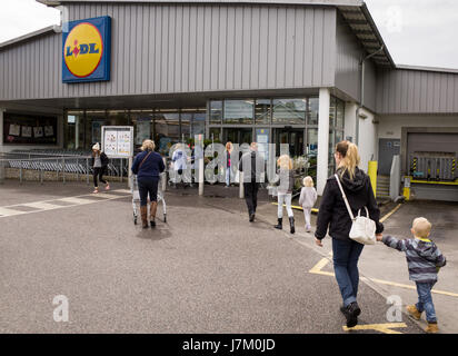 Lidl supermarket in the UK - Stock Image