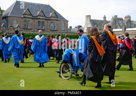 St Andrews University Graduates - Stock Image