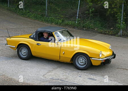 Triumph Spitfire 1500 Roadster (1978), British Marques Day, 28 April 2019, Brooklands Museum, Weybridge, Surrey, England, Great Britain, UK, Europe - Stock Image