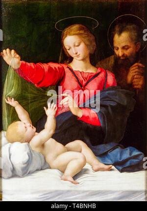Raphael, Madonna of Loreto, painting, 1509 - Stock Image