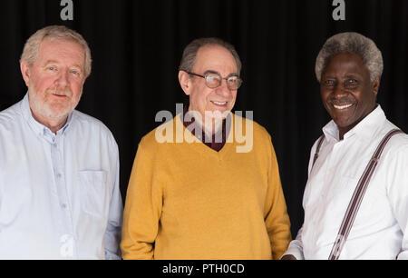 Portrait confident senior men - Stock Image