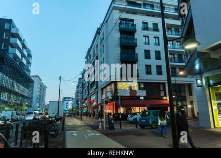 Joinville-sur-Pont, France, Paris Suburbs, Street Scene, Modern Urban Redevelopment - Stock Image
