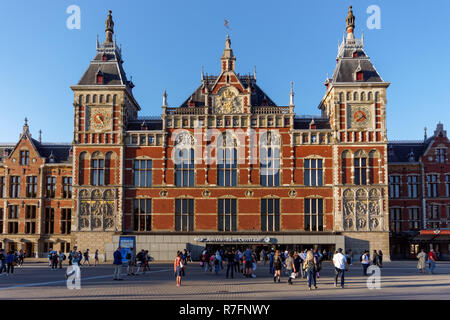 Amsterdam Centraal, Amsterdam Central Station, Amsterdam, Netherlands - Stock Image