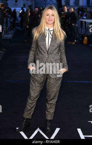London, UK. 12th Mar, 2019. LONDON, UK. March 08, 2019: Edith Bowman arriving for the premiere of 'The White Crow' at the Curzon Mayfair, London. Picture: Steve Vas/Featureflash Credit: Paul Smith/Alamy Live News - Stock Image
