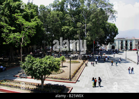 Plaza de la Constitucion, Zócalo, Oaxaca City, Oaxaca State, Mexico - Stock Image