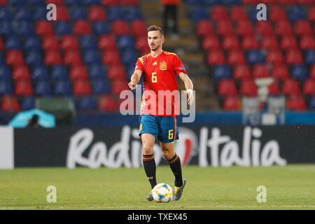 Fabian Ruiz (ESP), JUNE 22, 2019 - Football / Soccer : UEFA European Under-21 Championship 2019 Group stage match between Under-21 Spain 5-0 Under-21 Poland at the Stadio Renato Dall'Ara, Bologna, Italy. (Photo by Mutsu Kawamori/AFLO) - Stock Image