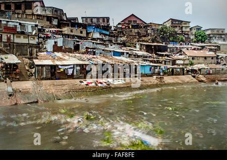 Mabella slum, Freetown, Sierra Leone - Stock Image