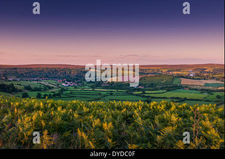 View of Rosedale in the North York Moors National Park. - Stock Image