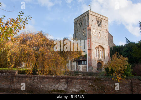 St John the Baptist Church, Compton, near Guildford, Surrey, England - Stock Image