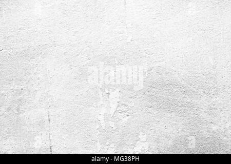 White Peeling Paint Concrete Wall Background. - Stock Image