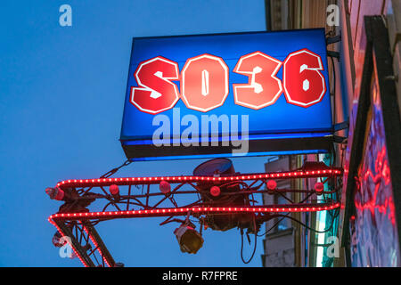 SO36 club in Kreuzberg, Oranienstrasse, nightlife Berlin - Stock Image
