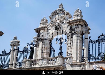 Buda Castle Gate Budapest Hungary - Stock Image